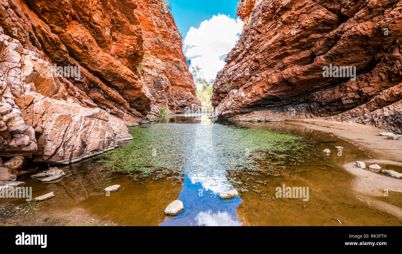 Scenic view of Simpsons gap in West MacDonnell National Park in NT central outback Australia - Stock Image