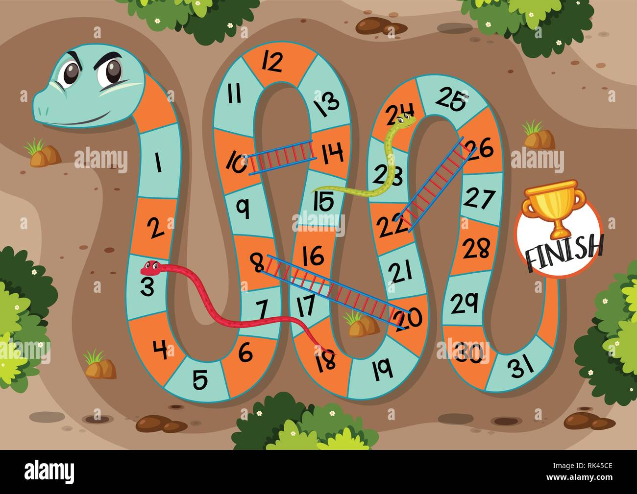 Snakes And Ladders Free Vector Art - (32 Free Downloads)