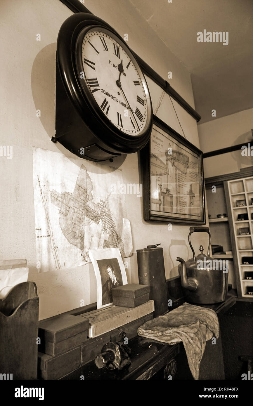 interior of victorian office - Stock Image
