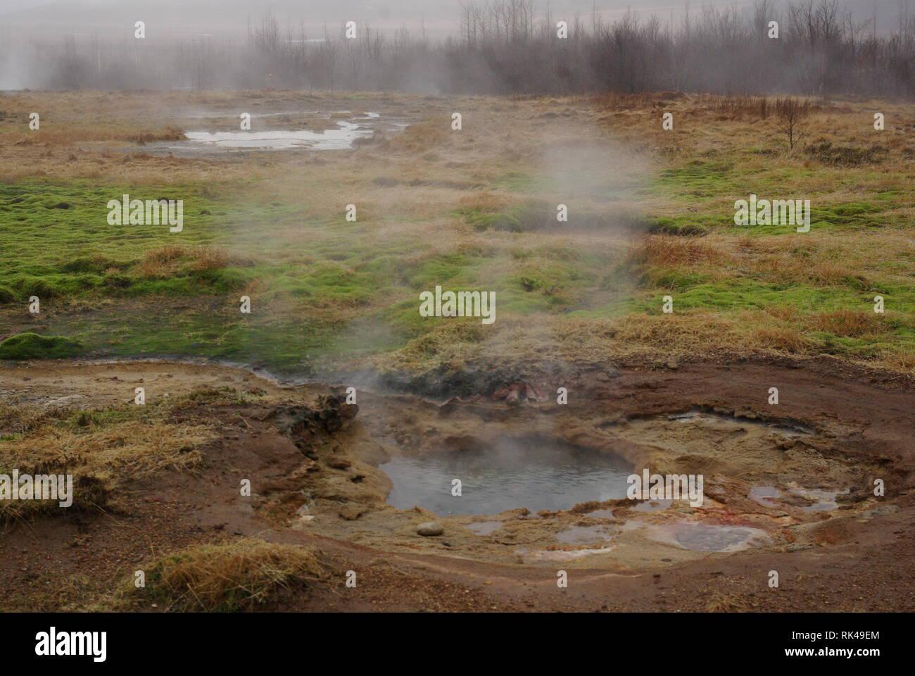 Iland - Geothermalgebiet Haukadalur - Stock Image