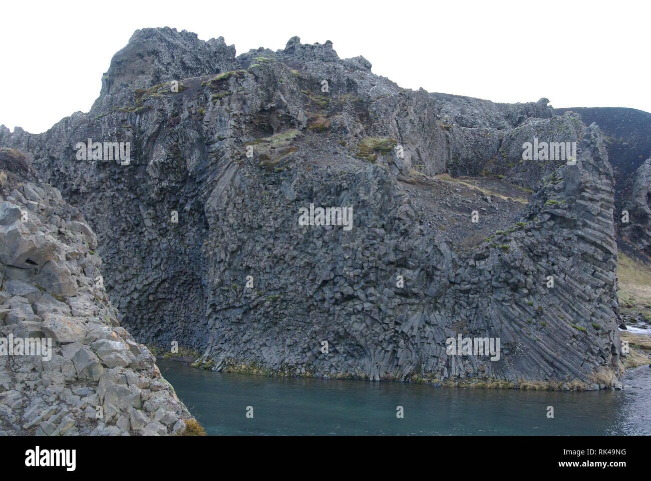 Hjalparfoss auf Island - Stock Image