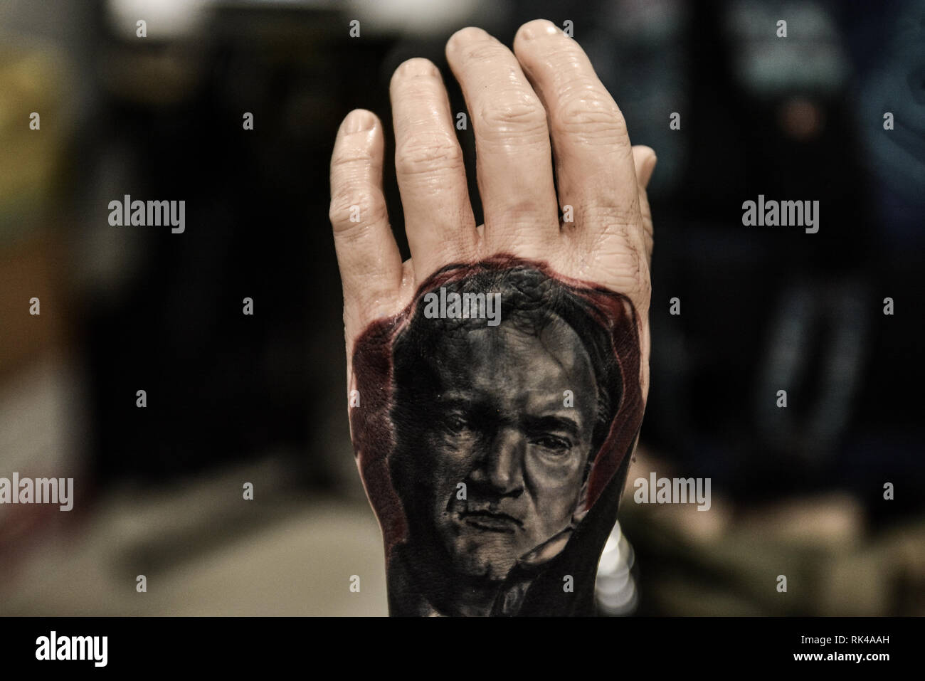 Milan Italy 08th Feb 2019 A Fake Hand With A Tattoo On