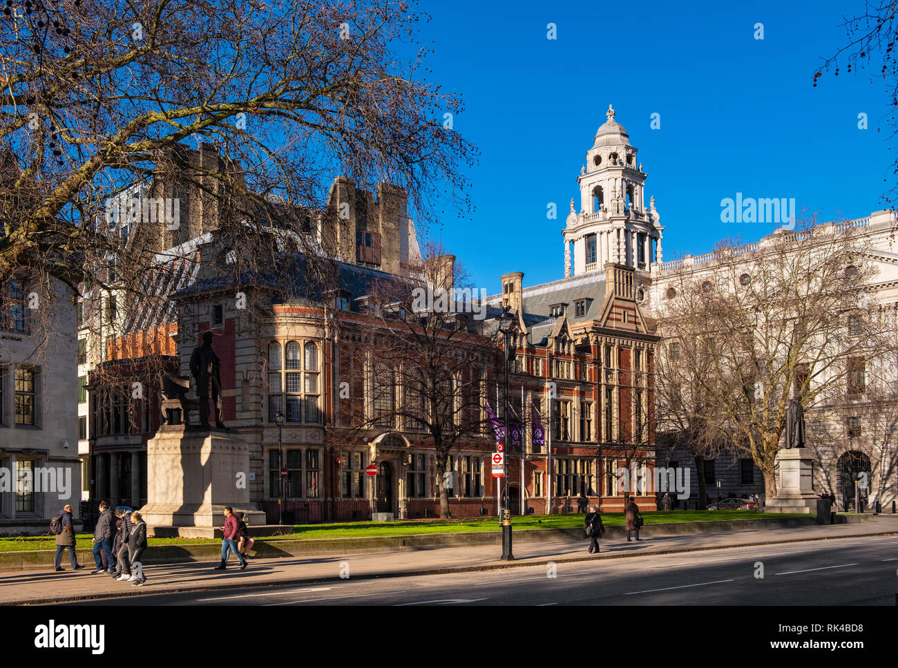 London, England / United Kingdom - 2019/01/28: Royal Institution of Chartered Surveyors - RICS - headquarters at the Parliament Square in the City of  Stock Photo