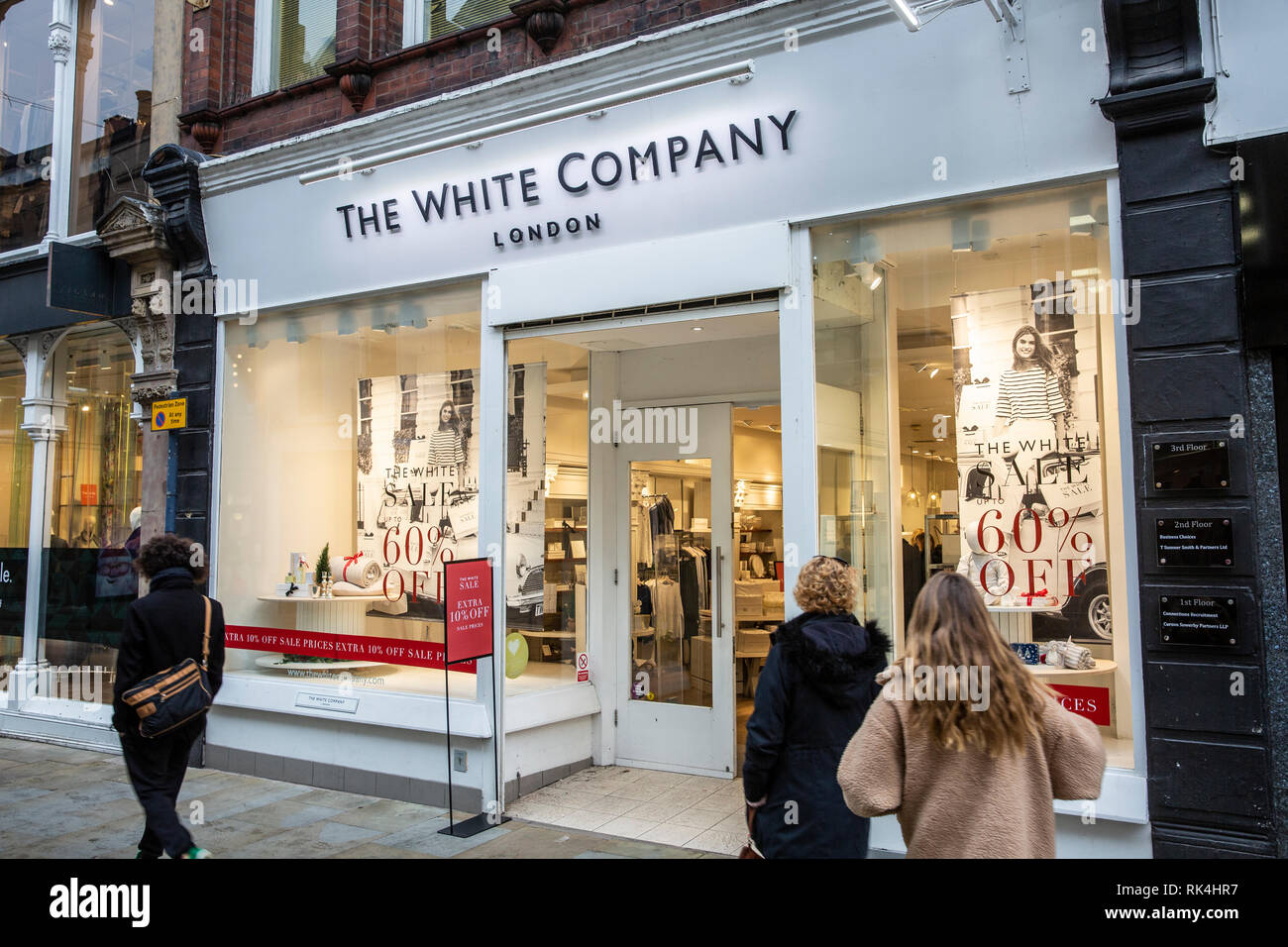 The White Company of London, here a store in Manchester city centre,Manchester,England - Stock Image
