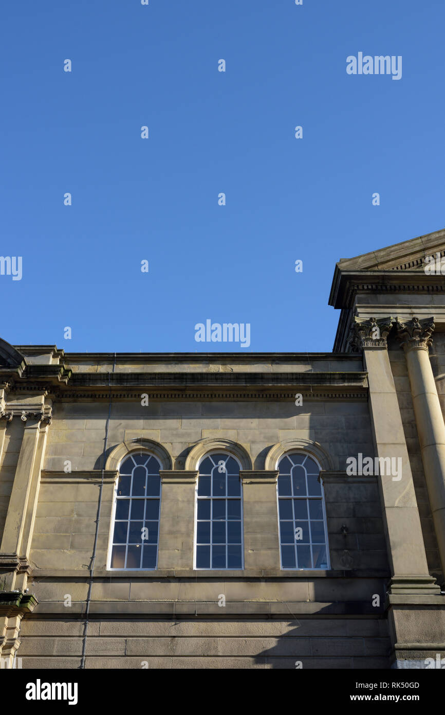 Bury Met building with clear blue sky background in lancashire uk - Stock Image
