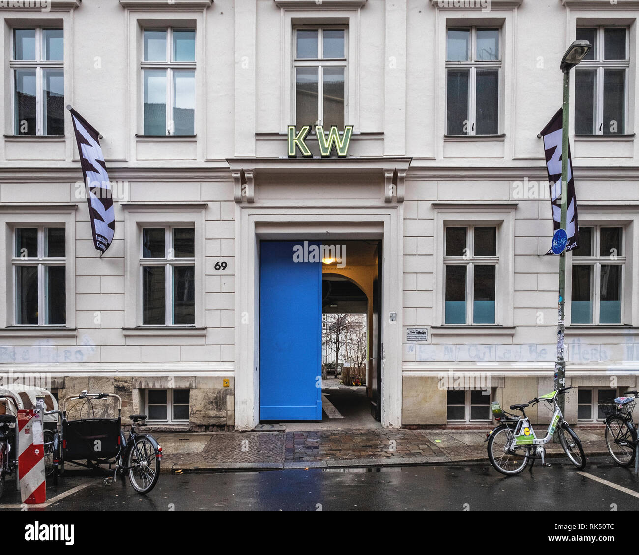 Berlin,Mitte,Auguststrasse 69. KW Art Gallery Exterior. Institute for Contemporary Art - Stock Image