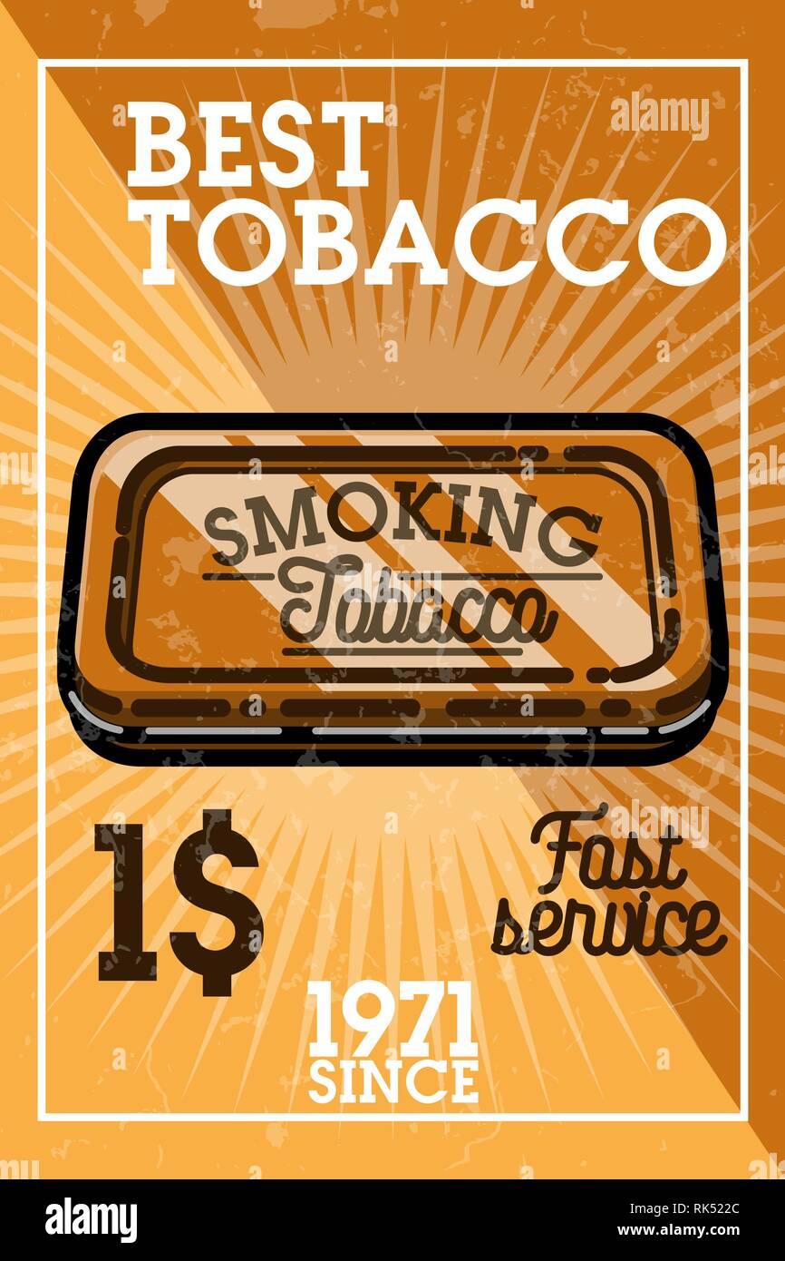 Color vintage tobacco shop banner  Smoke shop  Gentleman