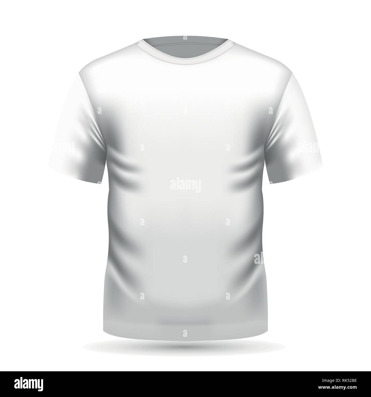 7e18bb65c Mens white t-shirt with short sleeve in front view. Vector illustration,  EPS 10