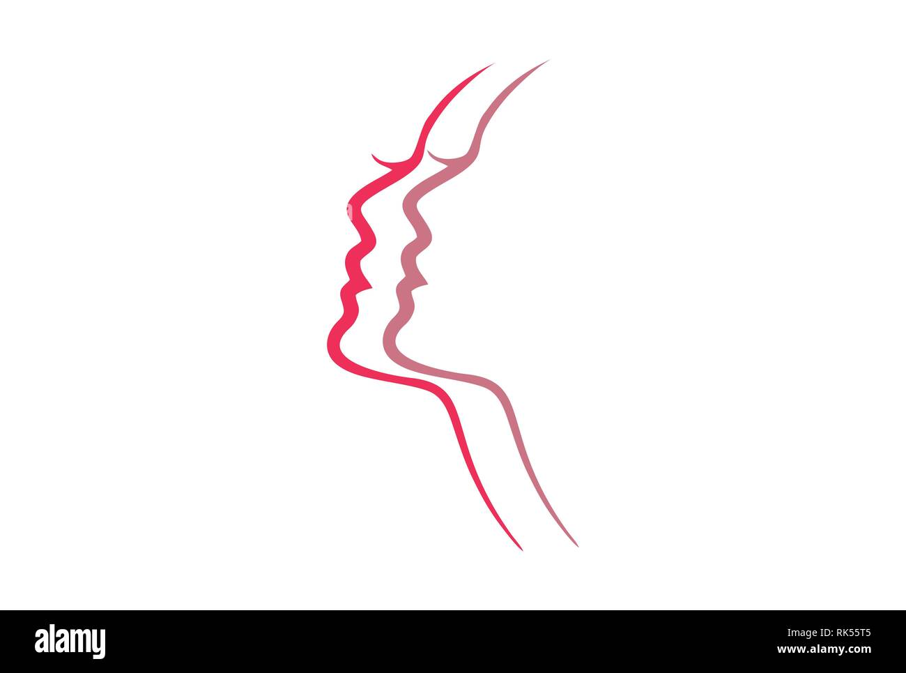Abstract Beauty Woman Logo Icon For Beauty Care Or Skin Care Or Spa Stock Photo Alamy