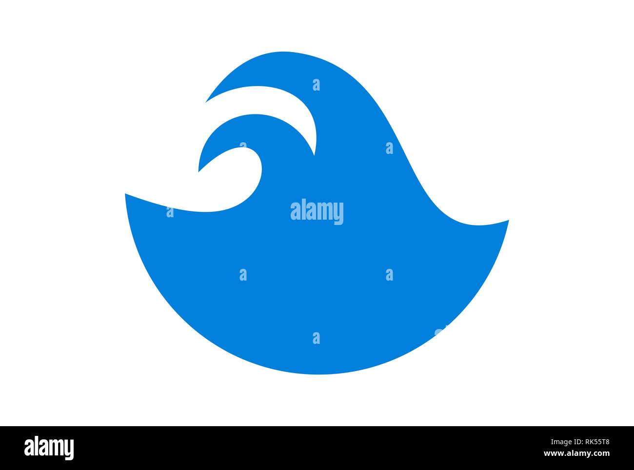 abstract blue waves logo icon brand blue color - Stock Image