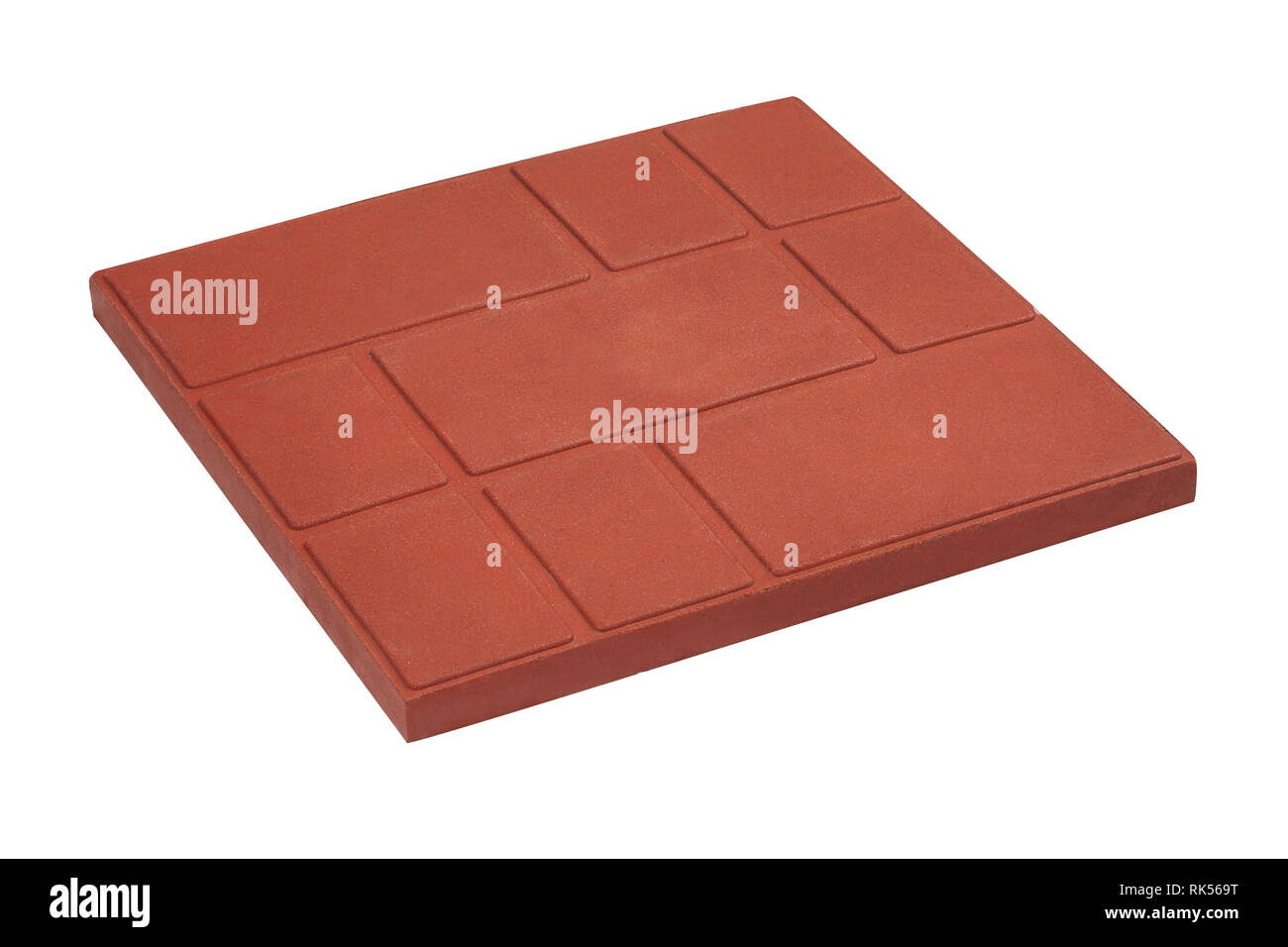 squared paving tile isolated, top view.  Sidewalk pavement pattern. Concrete Pavers   Sandstone Pavers   Granite Tiles - Stock Image