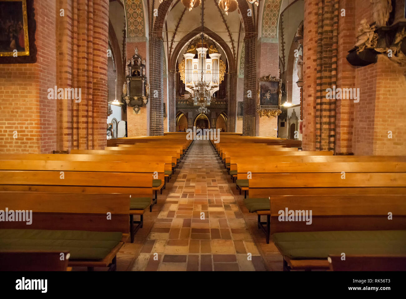 The organ of the Schleswig Cathedral, Schleswig, Schleswig-Holstein, Germany, Europe - Stock Image