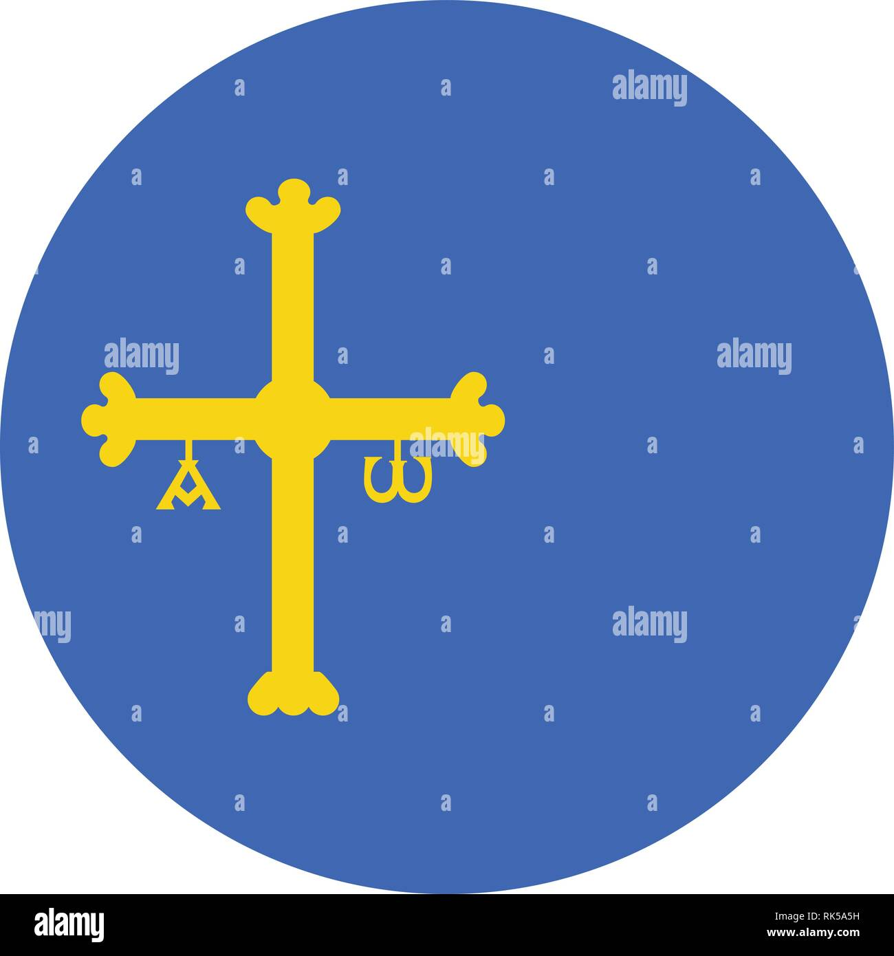 Vector Flag Of Spain Autonomous Community Province Asturias Coat Of Arms Stock Vector Image Art Alamy