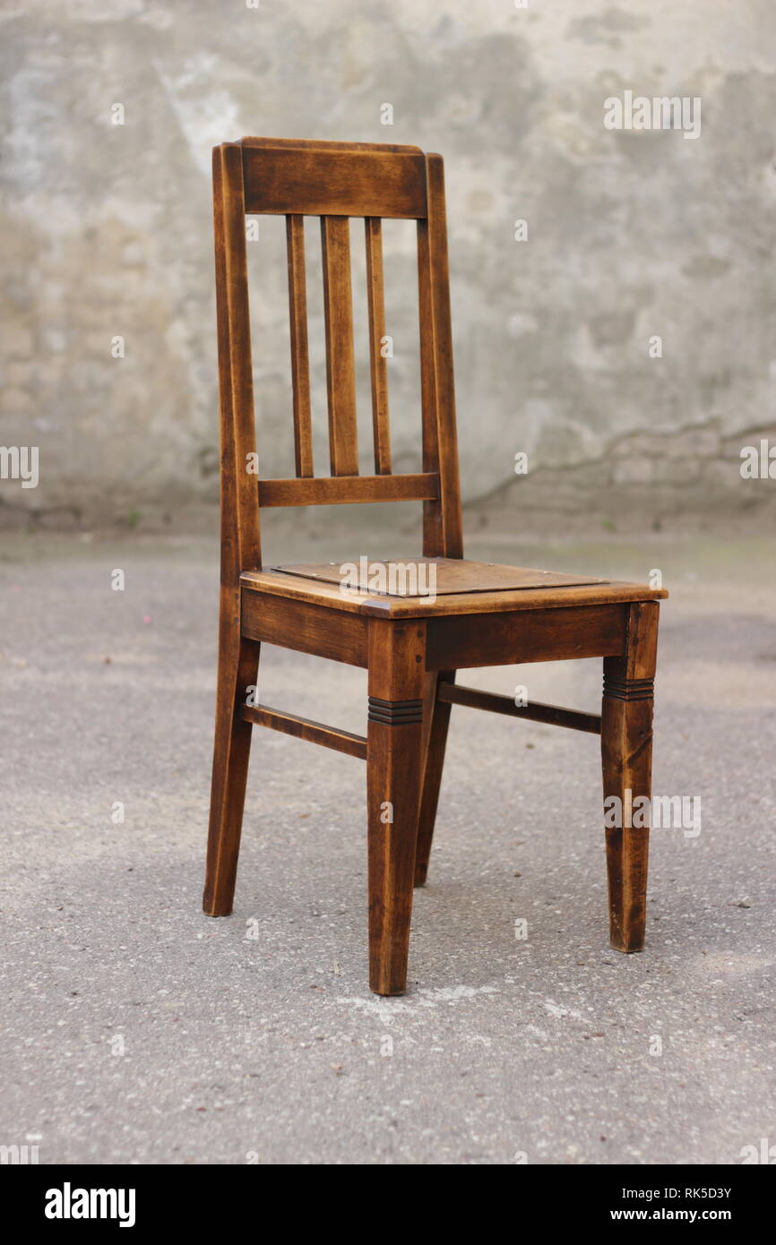 Antique Wooden Chairs >> Old Chair Antique Wooden Oak Vintage Furniture Stock Photo