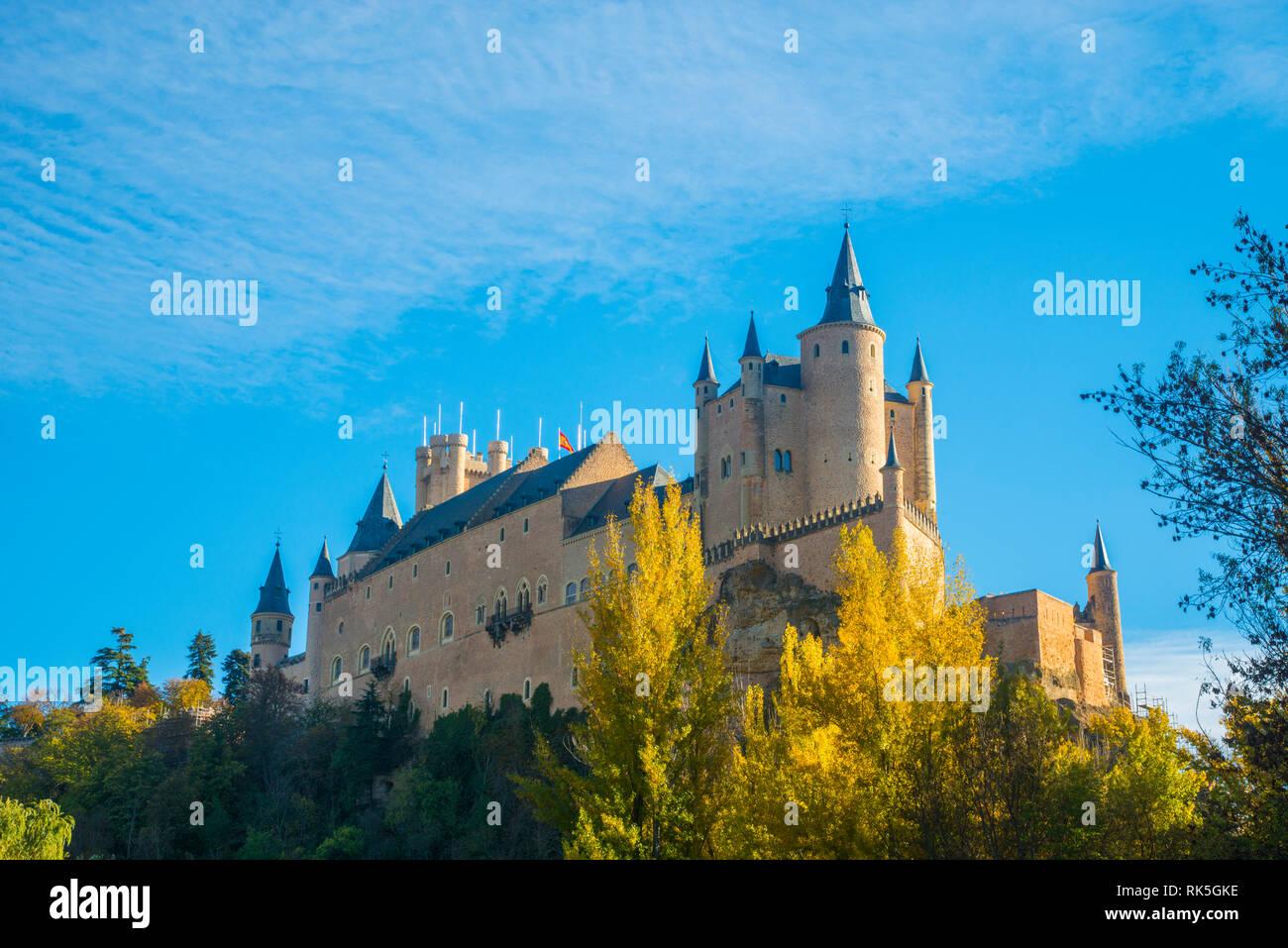 Alcazar. Segovia, Spain. - Stock Image