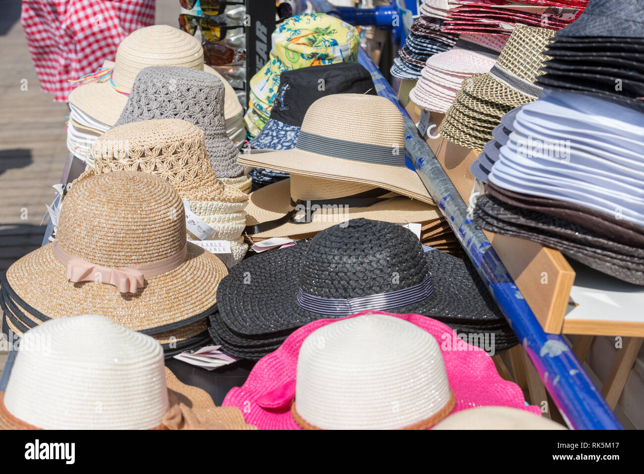 2e11f16588cef Outdoor Stand Selling Hats Stock Photos   Outdoor Stand Selling Hats ...