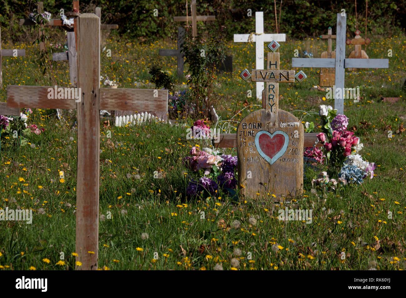 Sliammon, Sunshine Coast, British Columbia, Canada - Stock Image