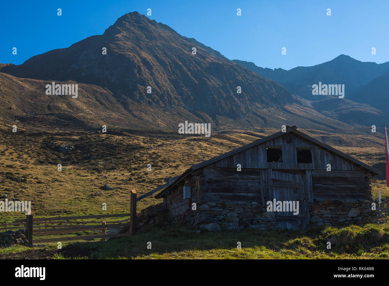 A House in the mountains - Stock Image