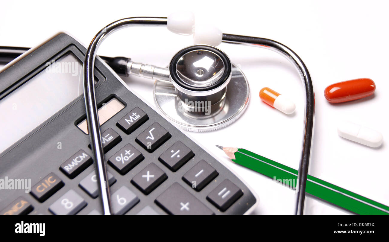 Health insurance policy and treatment - Stock Image
