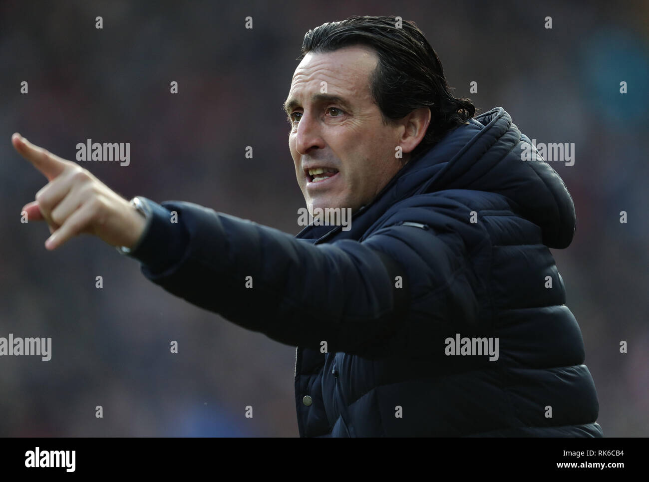 UNAI EMERY, ARSENAL FC MANAGER, HUDDERSFIELD TOWN FC V ARSENAL FC, PREMIER LEAGUE, 2019 - Stock Image
