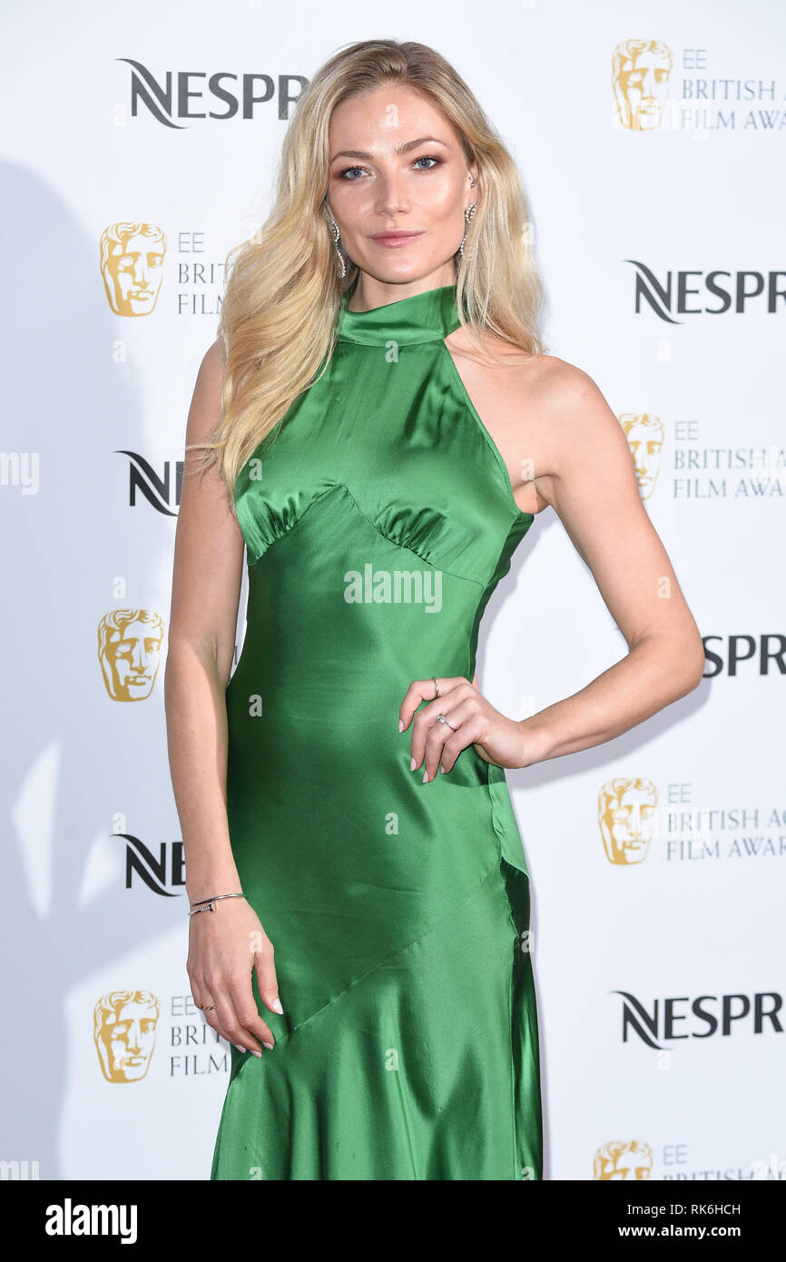 London, UK. February 09, 2019: Clara Paget arriving for the 2019 BAFTA Film Awards Nominees Party at Kensington Palace, London. Picture: Steve Vas/Featureflash Credit: Paul Smith/Alamy Live News - Stock Image