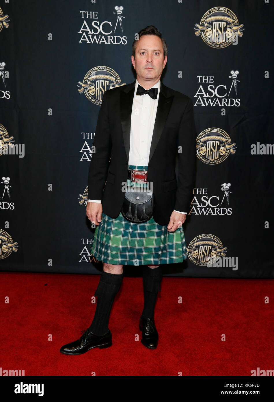 California, USA. 9th Feb 2019. Actor Thomas Lennon poses at the 33rd annual ASC Awards and The American Society of Cinematographers 100th Anniversary Celebration at the Ray Dolby Ballroom at Hollywood & Highland, Saturday, February 9, 2019 in Hollywood, California. Photo by Danny Moloshok/Moloshok Photography, Inc./imageSPACE Credit: Imagespace/Alamy Live News Stock Photo