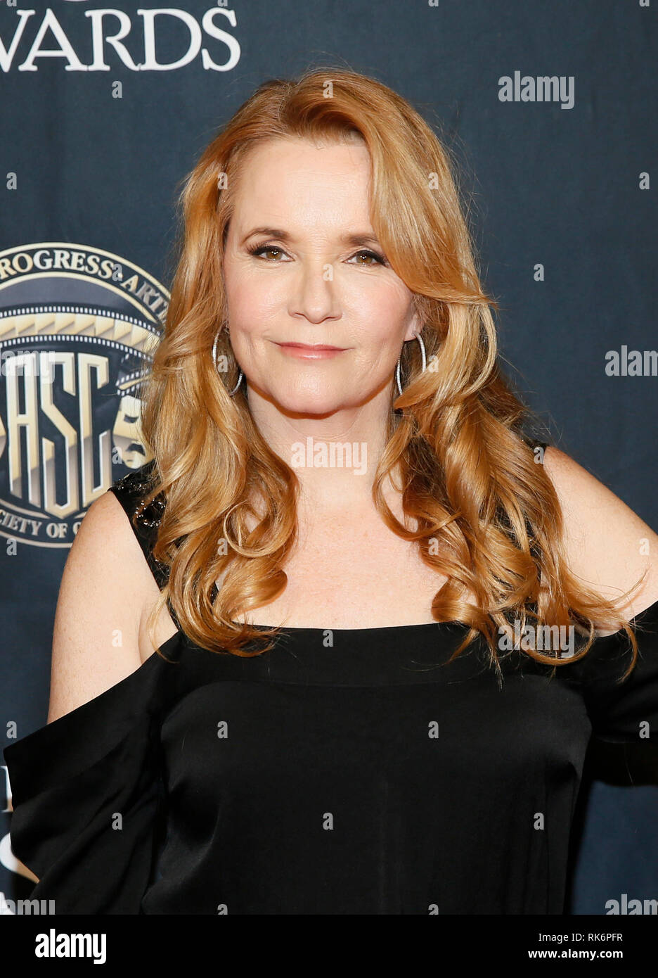 California, USA. 10th Feb 2019. California, USA. 10th Feb 2019. Actress Lea Thompson poses at the 33rd annual ASC Awards and The American Society of Cinematographers 100th Anniversary Celebration at the Ray Dolby Ballroom at Hollywood & Highland, Saturday, February 9, 2019 in Hollywood, California. Photo by Danny Moloshok/Moloshok Photography, Inc./imageSPACE/MediaPunch Credit: MediaPunch Inc/Alamy Live News Credit: MediaPunch Inc/Alamy Live News Stock Photo