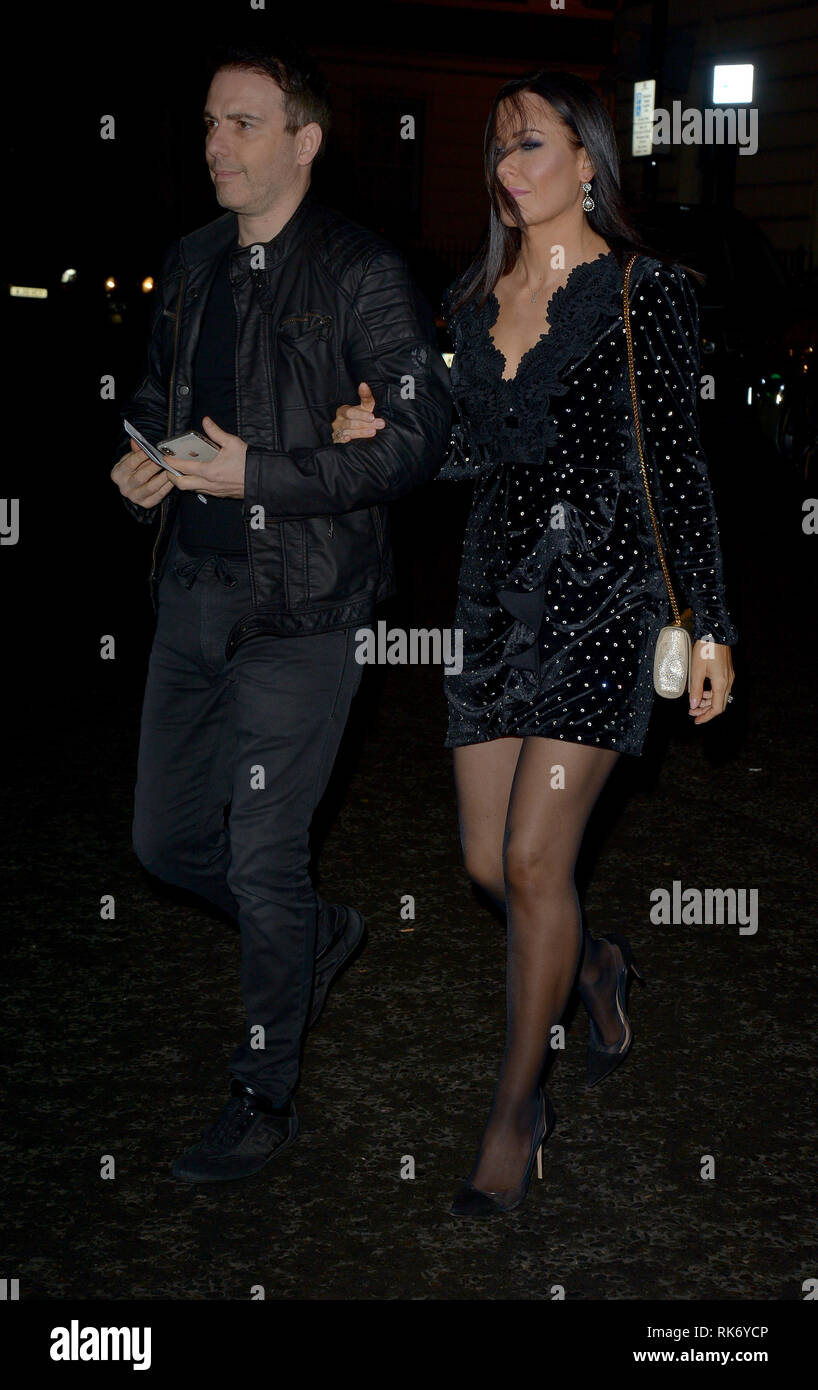 Various celebrities attend The Glass Premier and After Party  Featuring: Linzi Stoppard Where: London, United Kingdom When: 09 Jan 2019 Credit: WENN.com - Stock Image