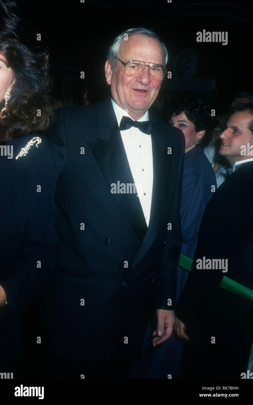 LAS VEGAS, NV - JANUARY 1: CEO of Berkshire Hathaway Warren Buffett attends 'An Evening with Barbra Streisand' concert on January 1, 1994 at MGM Grand Garden in Las Vegas, Nevada. Photo by Barry King/Alamy Stock Photo - Stock Image