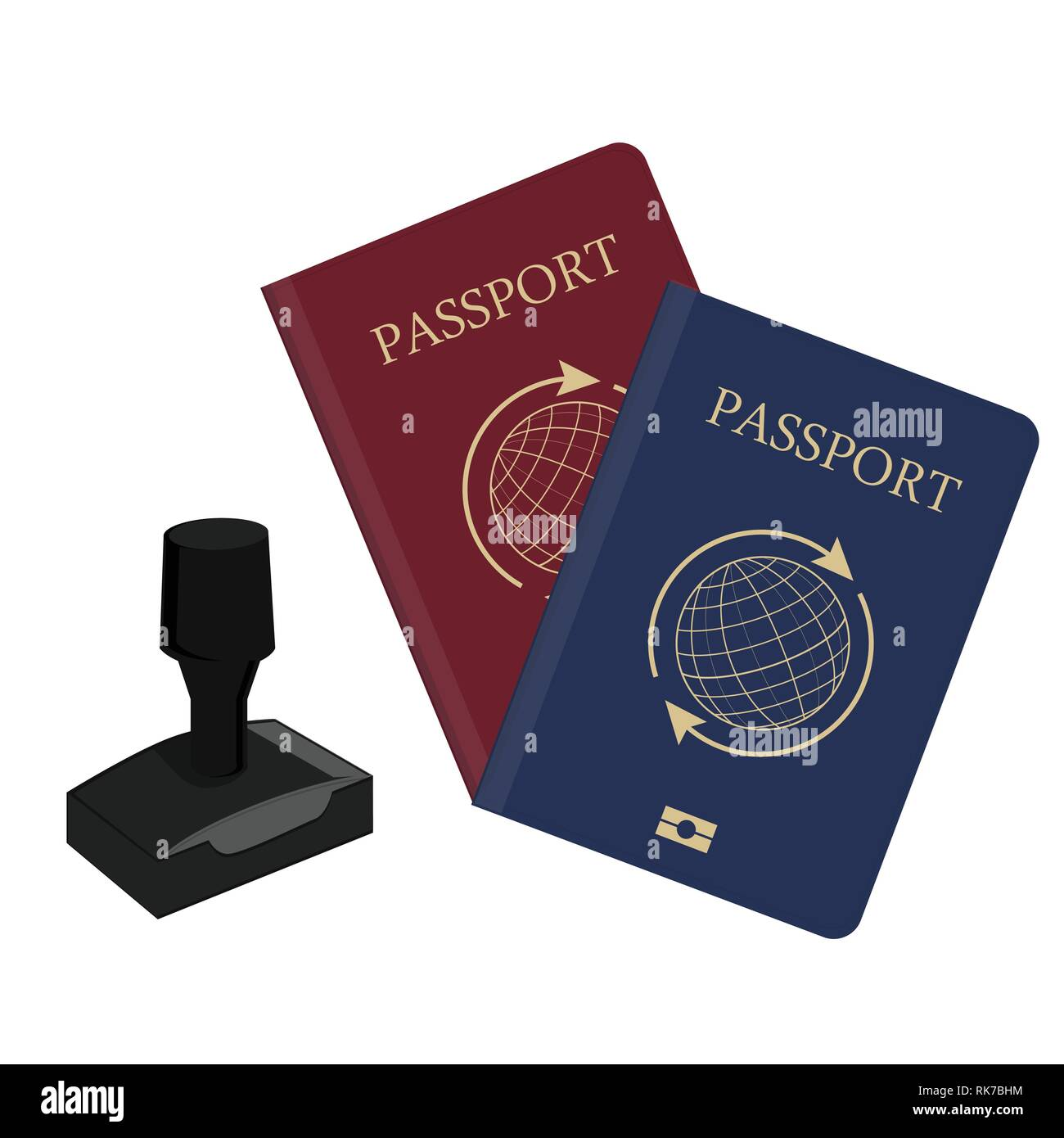 Passport Page Blank Stock Photos & Passport Page Blank Stock Images