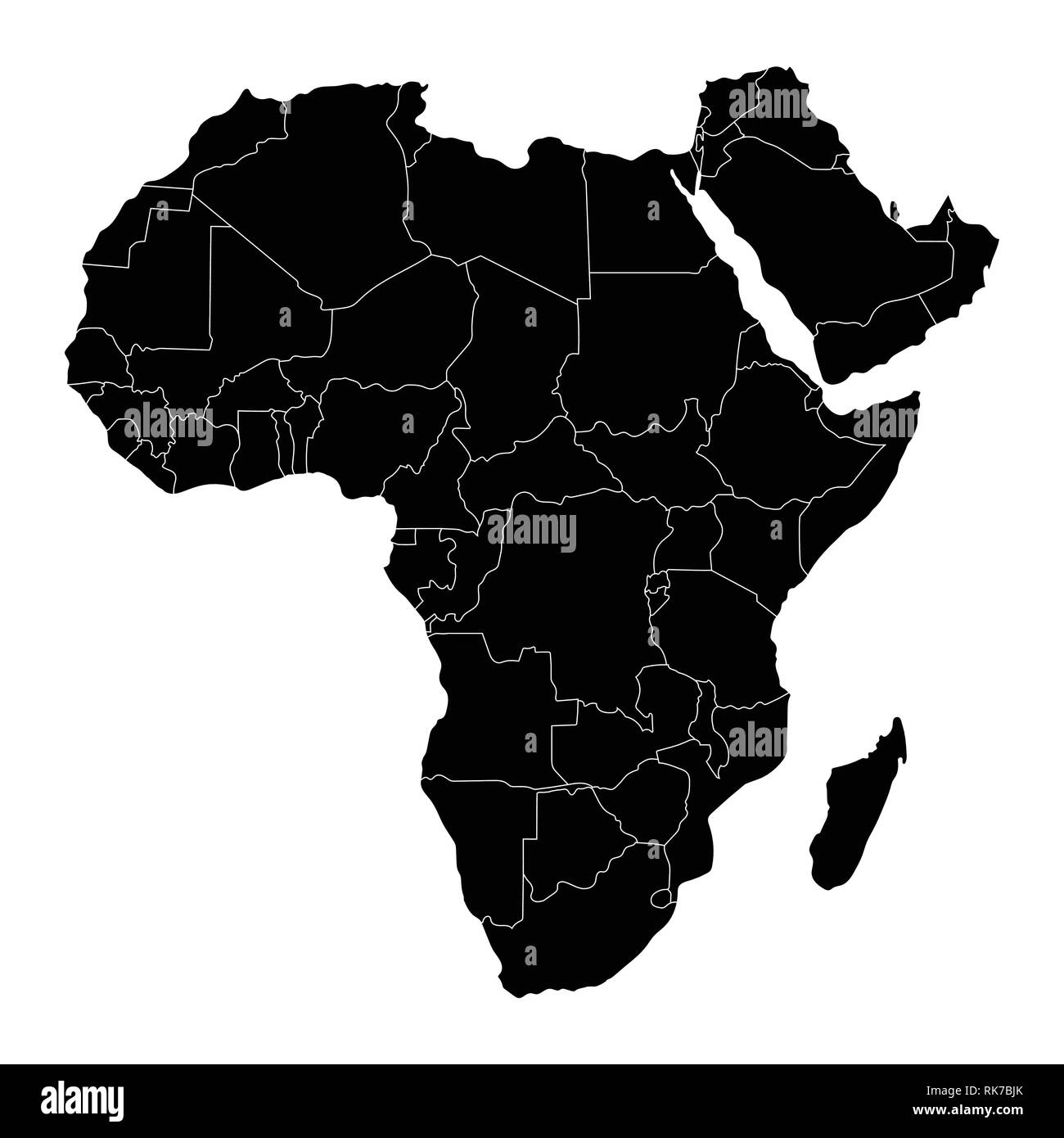 Africa Map Black And White Stock Photos Images Alamy