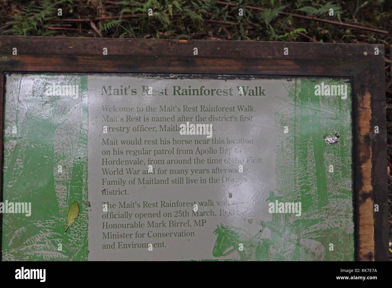 Visit Australia.  Mait's Rainforest Walk. - Stock Image