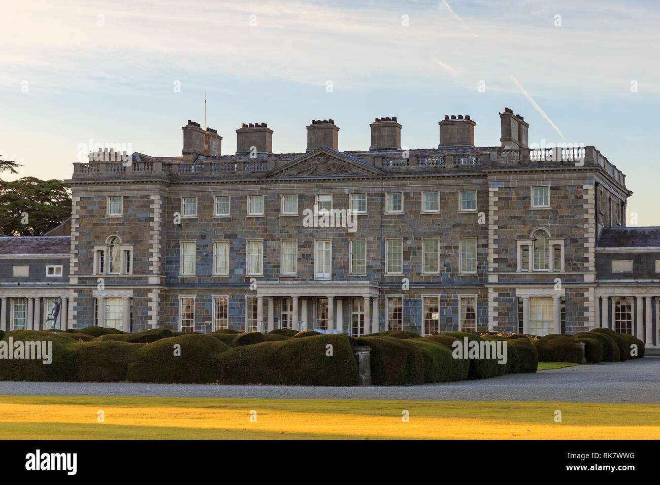 Facade of Carton House in Maynooth, County Kildare, Ireland - Stock Image