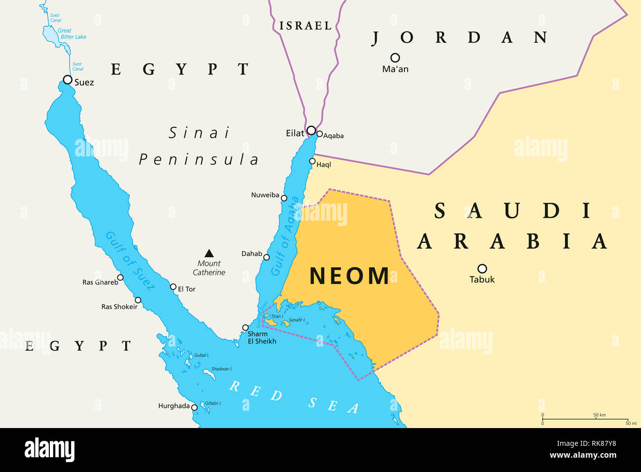 NEOM political map of the 500 billion dollar megacity ...