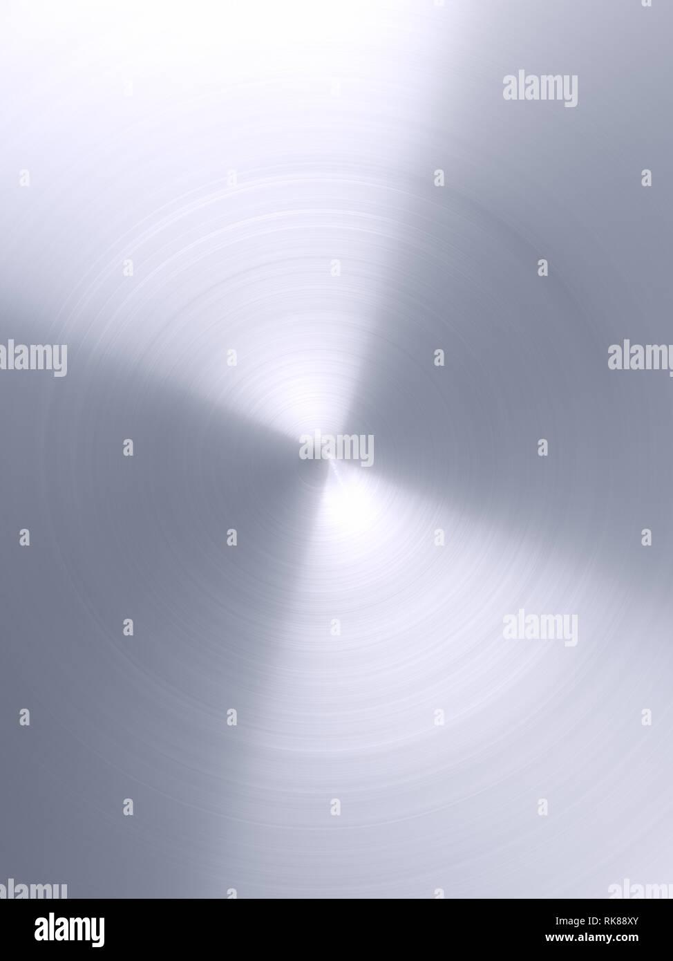 shiny metal radial polished texture - Stock Image