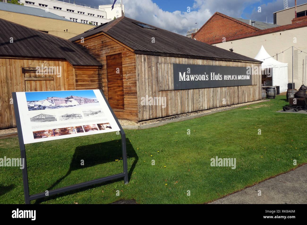 Mawson's Hut Replica Museum, Hobart, Tasmania, Australia. No PR - Stock Image