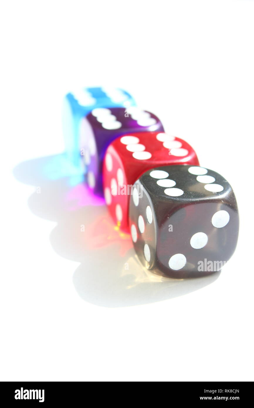 Some Playing Dices - Stock Image