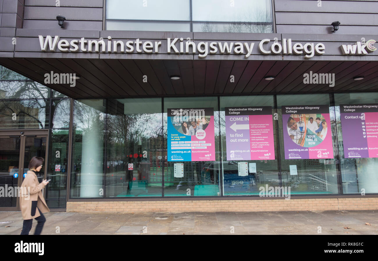 Westminster Kingsway College,Grays Inn Road, London, WC1, UK - Stock Image