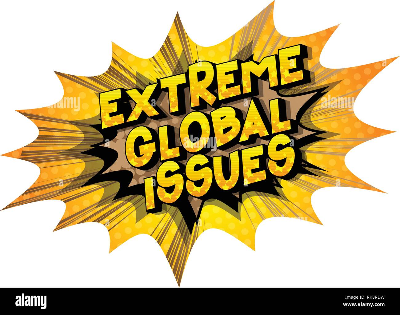 Extreme Global Issues - Vector illustrated comic book style phrase on abstract background. - Stock Vector
