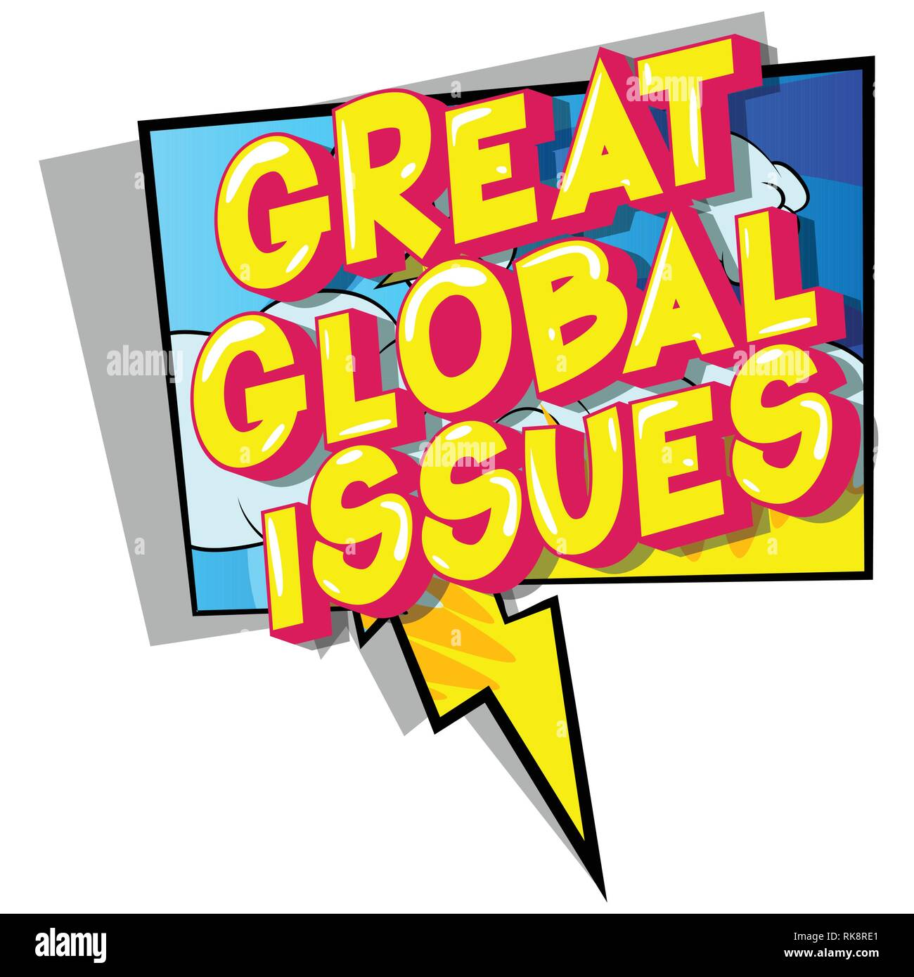Great Global Issues - Vector illustrated comic book style phrase on abstract background. - Stock Image