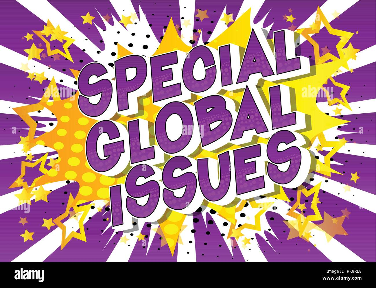 Special Global Issues - Vector illustrated comic book style phrase on abstract background. - Stock Vector