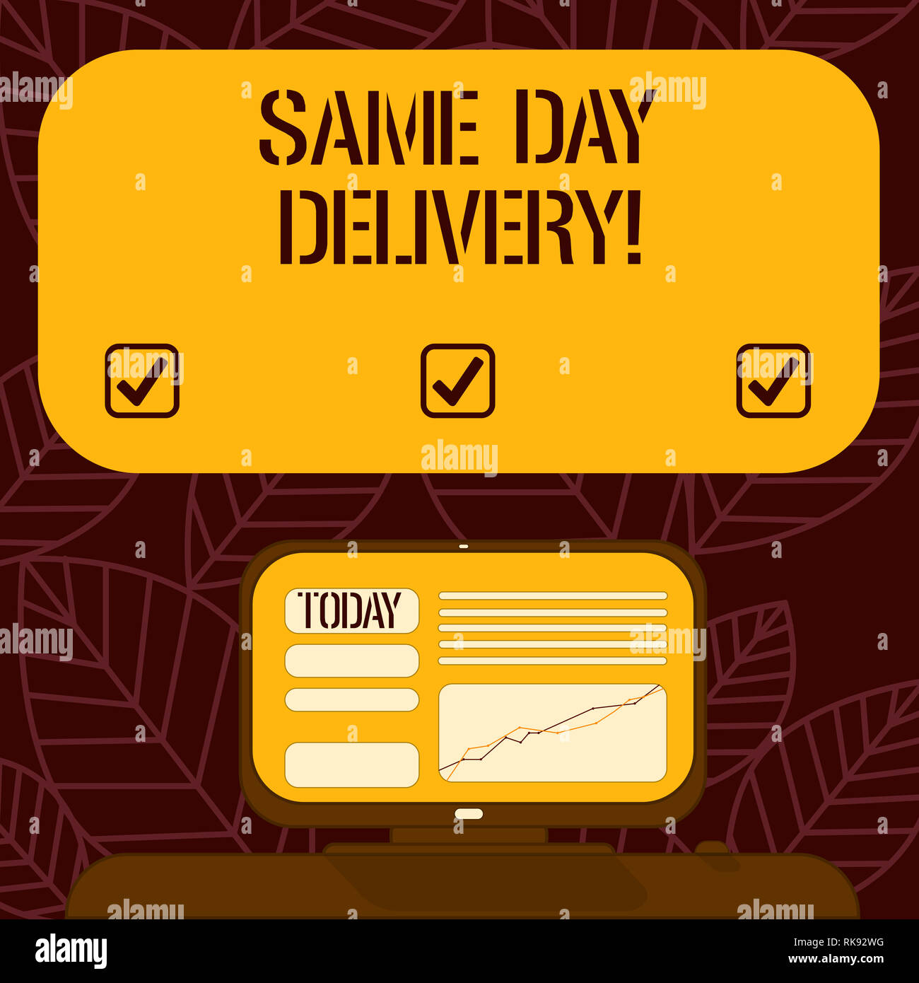 hot sale online special sales new concept Conceptual hand writing showing Same Day Delivery. Business ...