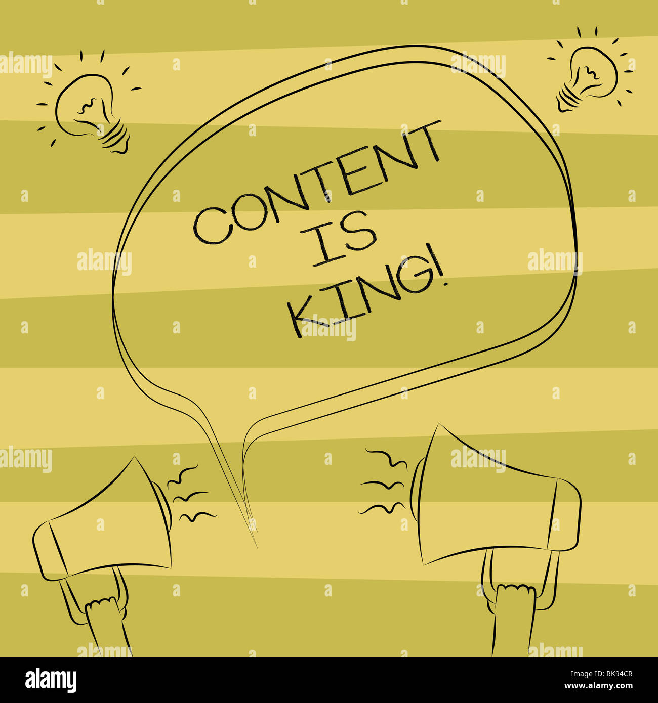 Text sign showing Content Is King  Conceptual photo Content is the