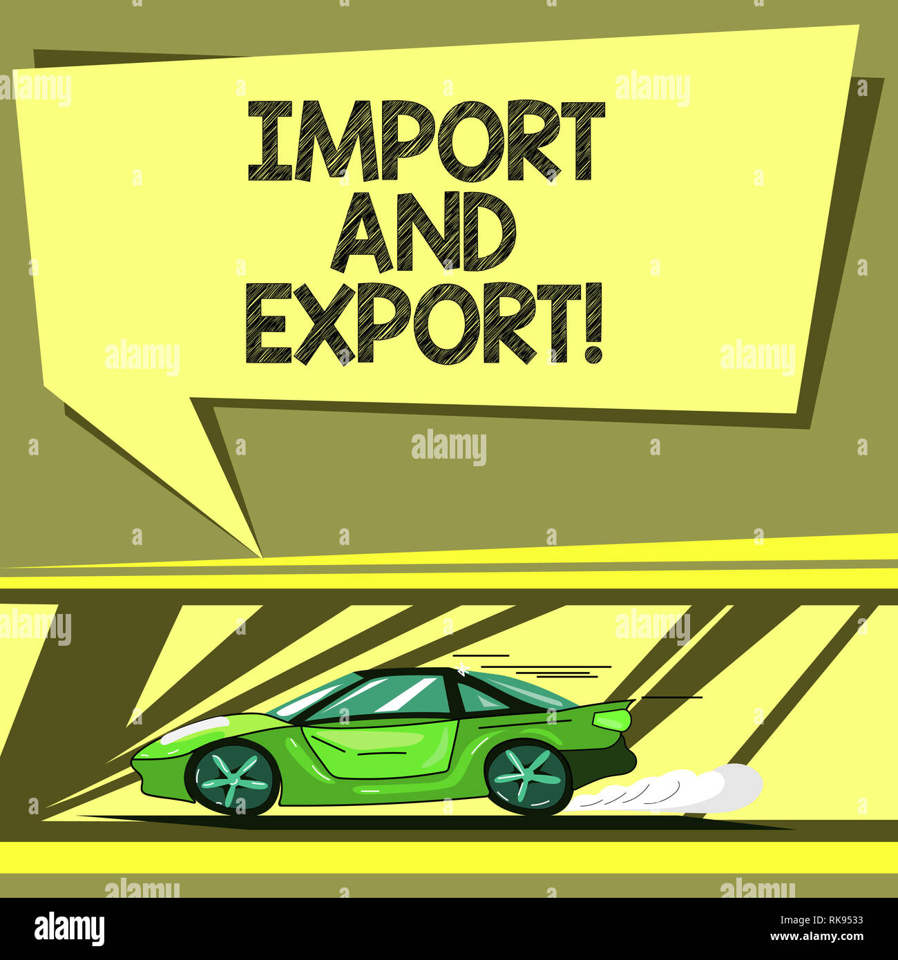 Conceptual hand writing showing Import And Export  Business