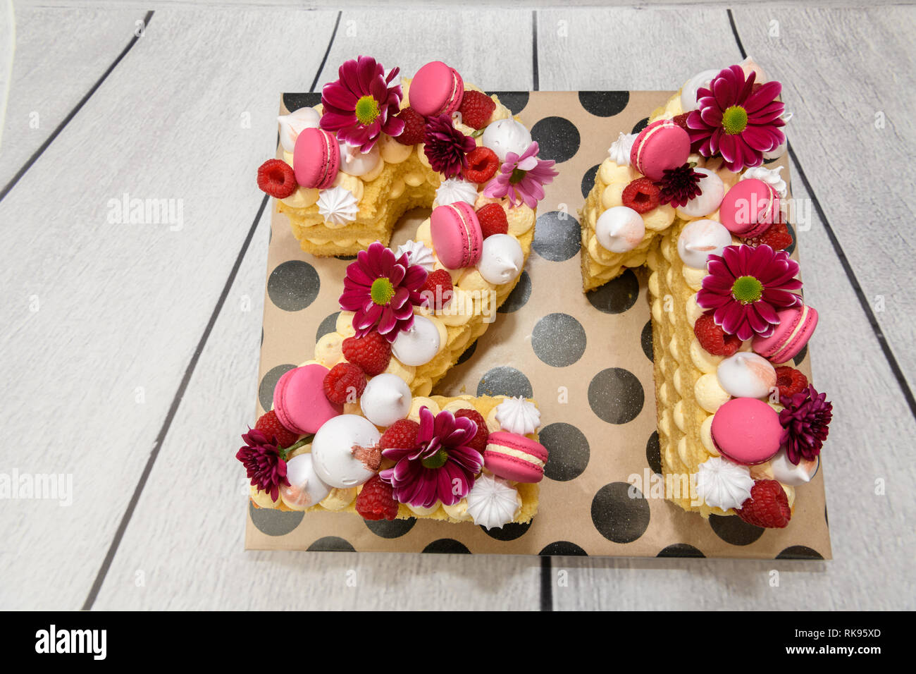 Stupendous Number 21 Novelty Birthday Cake Stock Photo 235615477 Alamy Personalised Birthday Cards Akebfashionlily Jamesorg