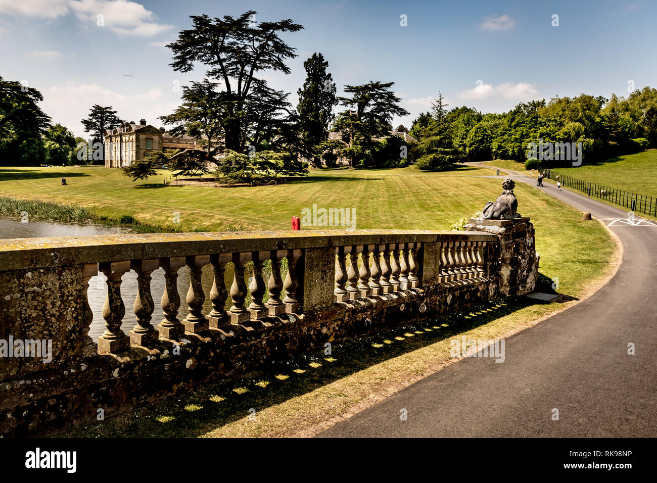Compton Verney House  is an 18th-century country mansion at Compton Verney in Warwickshire, England. The gardens were landscaped by Capability Brown. - Stock Image