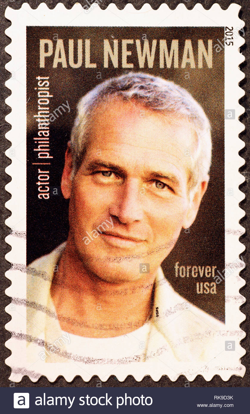 Paul Newman On American Postage Stamp