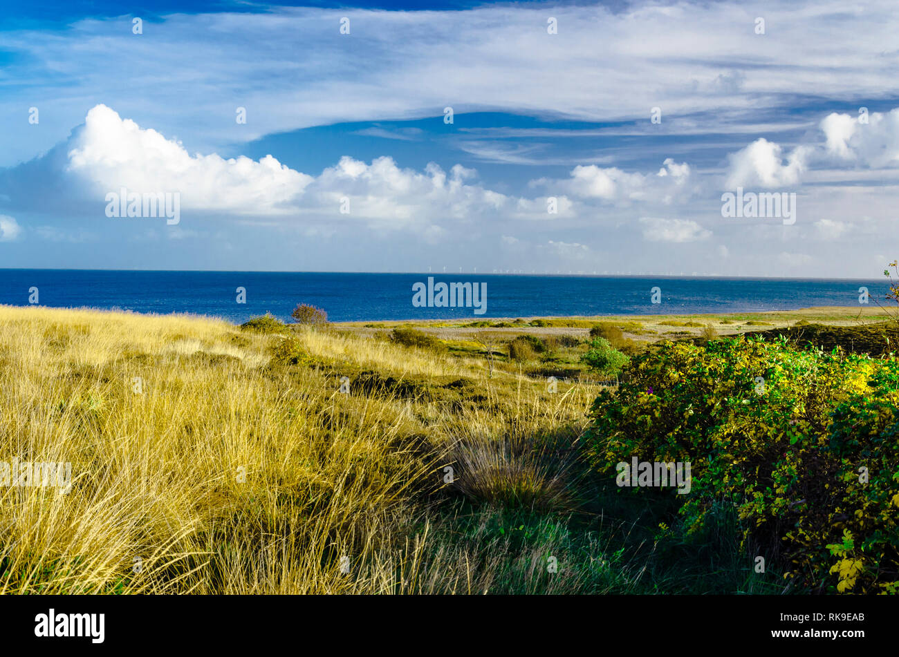 View from Sylt island onto the North Sea. - Stock Image