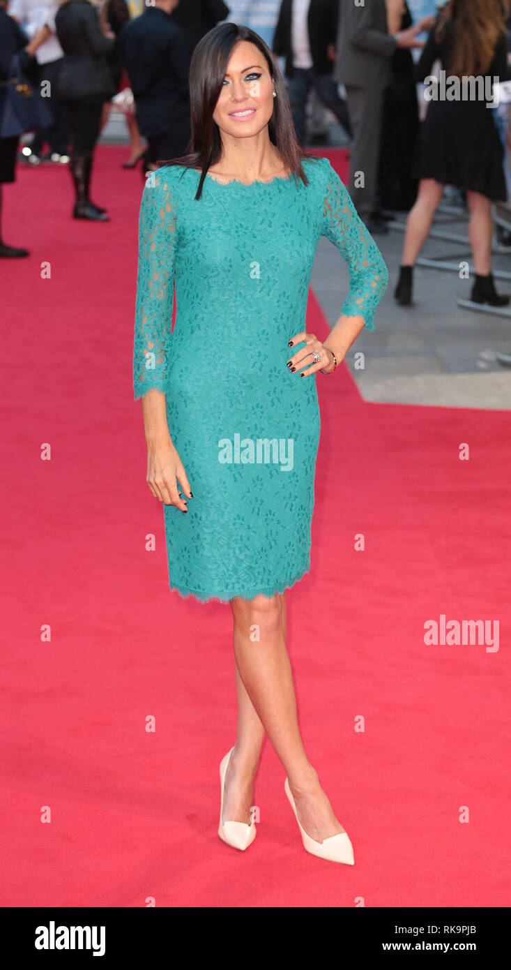 22-09-14: 'What We Did on Our Holiday' - World Premiere, Odeon West End, London Linzi Stoppard arrives - Stock Image