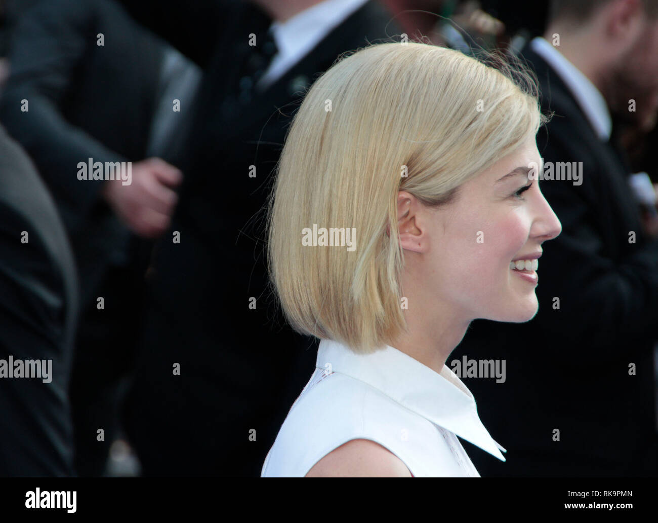 Rosamund Pike arrives at the World Premiere of 'The World's End' at the Empire, Leicester Square, London - Stock Image